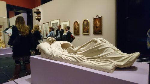 Illustration 5 : Hans Conrad Asper, couvercle de sarcophage en forme de squelette, 1624, marbre d'Untersberg, Salzburg Museum