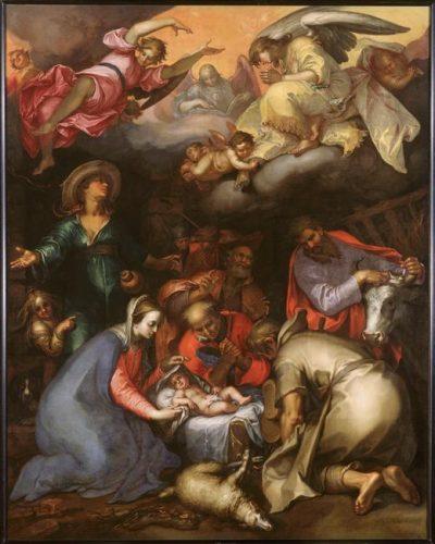 Abraham Bloemaert, Adoration des bergers, XVIIe siècle, toile, 287 x 229 cm, Paris, musée du Louvre.