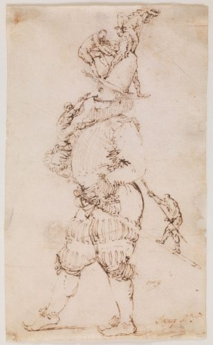 José de Ribera, Il Capitano,1627 – 1630, dessin, 18,4 x 10,0 cm, Madrid, musée du Prado.